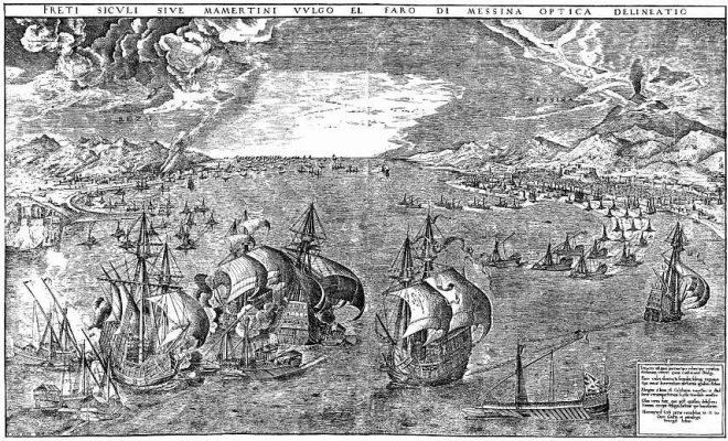 Pieter Bruegel The Elder. Naval battle in the Bay near Messina