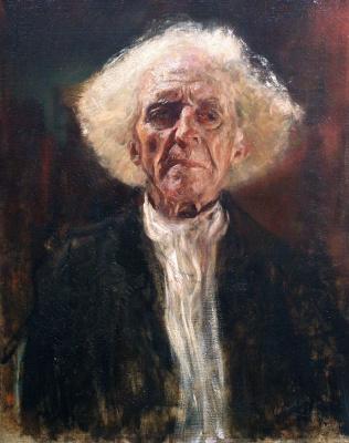 Gustav Klimt. A blind old man