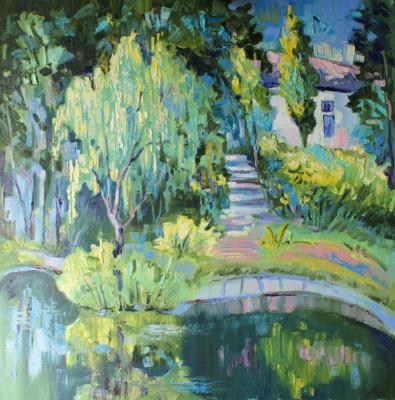 "Boris Viktorovich Zhigalov. ""Lake in the Botanical Garden"""