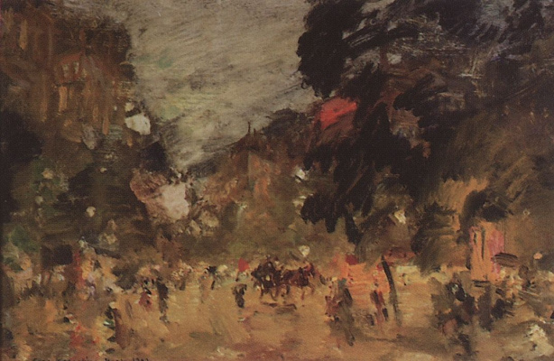 Konstantin Korovin. A Parisian Boulevard. Sketch
