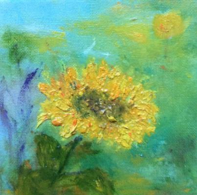 "Rita Arkadievna Beckman. Series ""Portraits of Favorite Flowers"" - Sunflower"