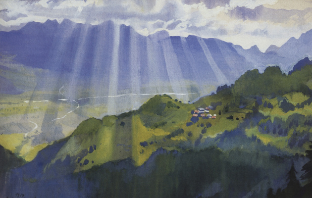 Zinaida Serebryakova. The mountainous landscape. Switzerland
