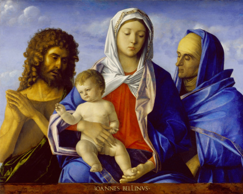 Giovanni Bellini. Madonna and Child with John the Baptist and St. Elizabeth