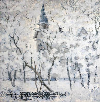 Alexander Vasilyevich Evtikhiev (Evtikheev). Tomsk winter