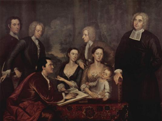 Джон Смиберт. Портрет семьи декана Джорджа Беркли