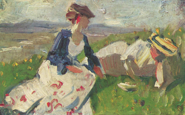 Franz Marc. Two women on the mountain