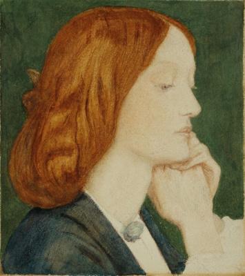 Dante Gabriel Rossetti. Portrait of Elizabeth Siddal, in profile
