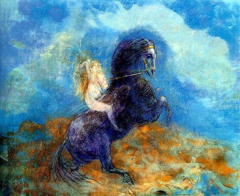 Odilon Redon. Brünnhilde (The Valkyrie)