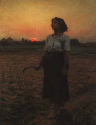 Jules Breton. Fantastic sunset