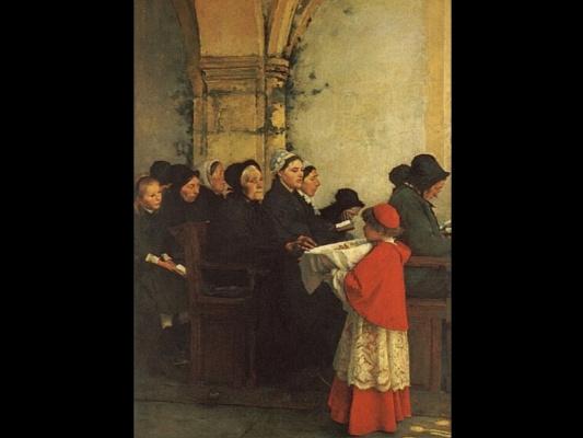 Франсуа Бонвэн. Аве Мария интерьер монастыря