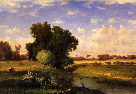 George Innes. Sunset meadows Hackensack