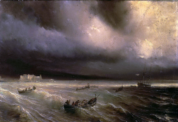 Теодор Гюден. Буря на море
