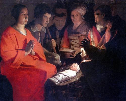 Georges de La Tour. The adoration of the Magi