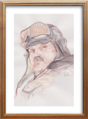 Ivan Alexandrovich Dolgorukov. Watercolor portrait of Kazakov