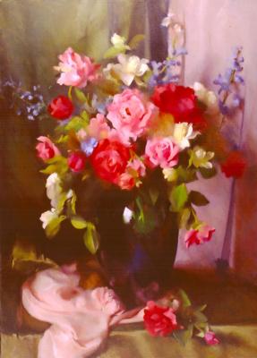 Мэри Минифи. Розы и пионы2