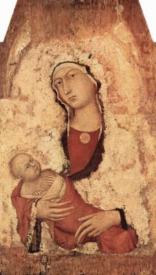 Симоне Мартини. Мария с младенцем, фрагмент