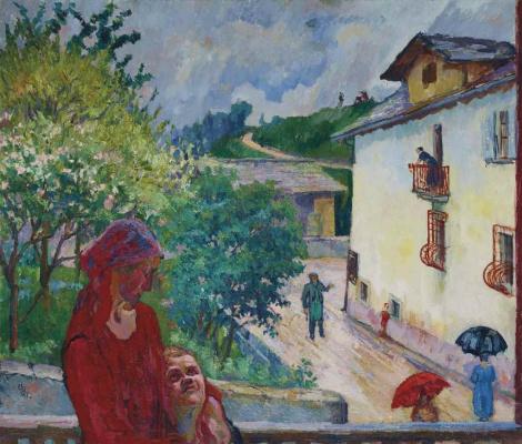 Giovanni Giacometti. Spring rain