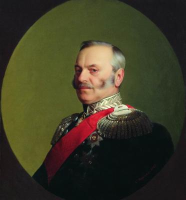 Sergey Konstantinovich Zaryanka. Portrait of the Minister of Railways Pavel Petrovich Melnikov (1804-1880)