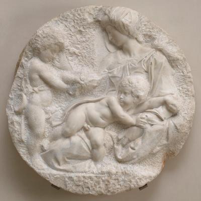 Michelangelo Buonarroti. Tondo Taddei