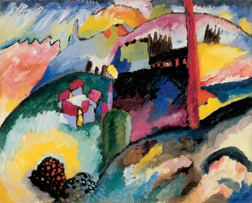 Wassily Kandinsky. Landscape with factory chimney
