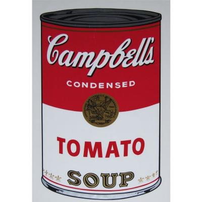 Банка с супом Кэмпбелл (рисово-томатный)