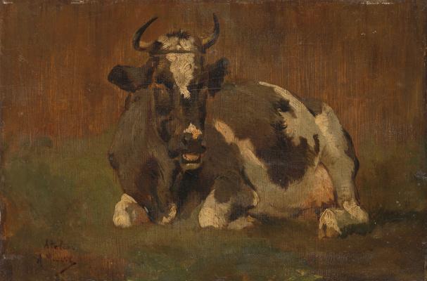 Антон Мауве. Лежащая корова