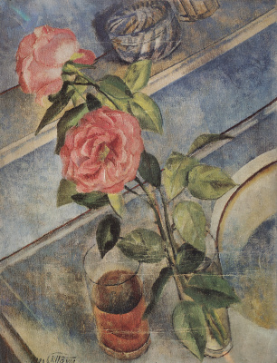 Kuzma Sergeevich Petrov-Vodkin. Still life with roses
