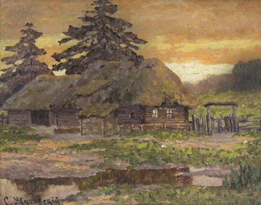 Stanislav Yulianovich Zhukovsky. Sunset in the village