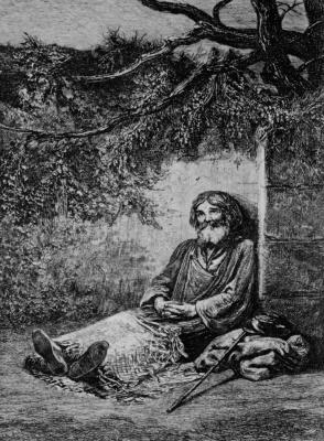 Charles-Francois Daubigny. Old beggar