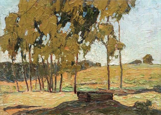 Николай Григорьевич Бурачек. Landscape with trees