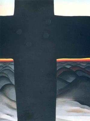 Georgia O'Keeffe. Black cross. New Mexico