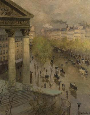 Frits Thaulow. Boulevard Madeleine in Paris