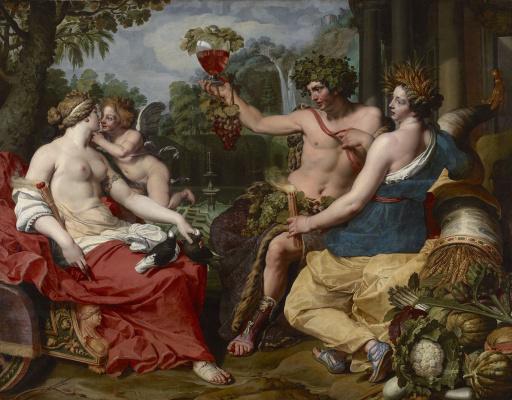 Абрахам Янсенс. Церера, Бахус и Венера