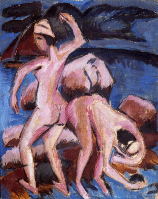 Ernst Ludwig Kirchner. Two bathers