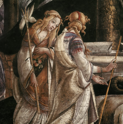 Sandro Botticelli. The calling of Moses (detail)