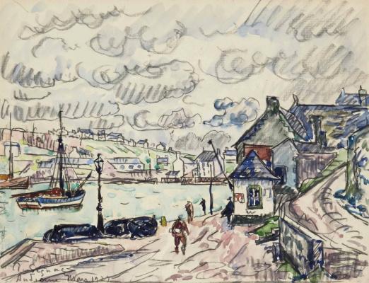 Paul Signac France 1863 - 1935. Audierne, port. 1927, March