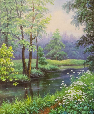 Maria Potapova. Have a wonderful day by the river