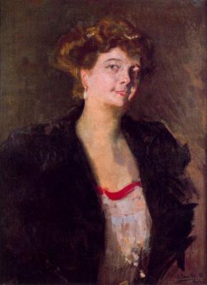 Joaquin Sorolla. Sketch to the portrait of Dona Elena Ortuzar Blasco ibáñez