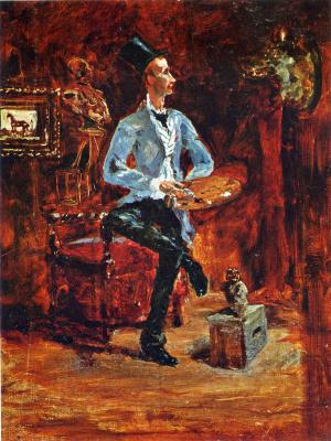 Henri de Toulouse-Lautrec. Princeteau in His Studio