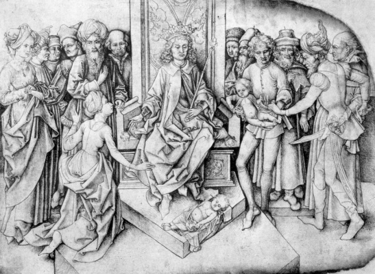 Martin Schongauer. The Judgement Of Solomon