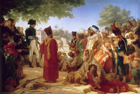 Пьер-Нарсис Герен. Наполеон прощает мятежников в Каире 30 октября 1798 года