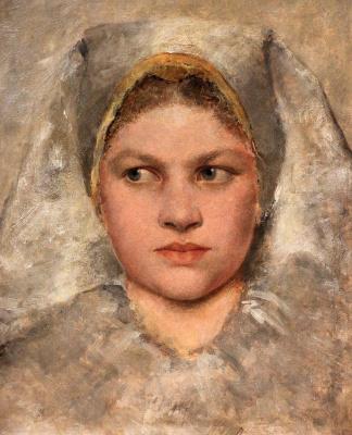 Густав Климт. Голова Ханнакин (исследование)