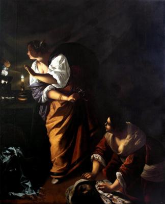 Юдифь и ее служанка Абра с головой Олоферна
