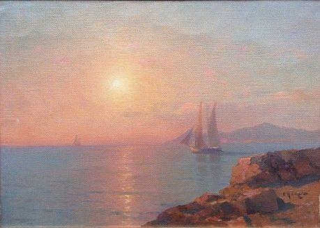 Alexey Vasilyevich Ganzen. Sunrise on the sea