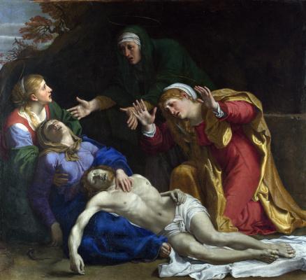 Annibale Carracci. Lamentation over the dead Christ