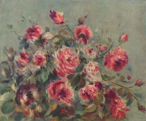 Pierre-Auguste Renoir. Still life. Rose of Vagamon