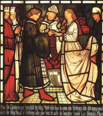 Edward Coley Burne-Jones. Sir Tristram's Wedding