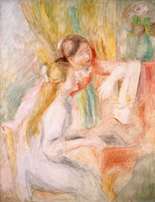 Пьер Огюст Ренуар. Девушки за фортепиано