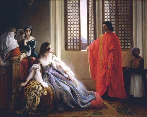 Francesco Ayets. The overthrow of Katharina Cornaro from the throne of Cyprus
