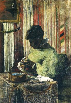 Поль Гоген. Портрет мадам Гоген